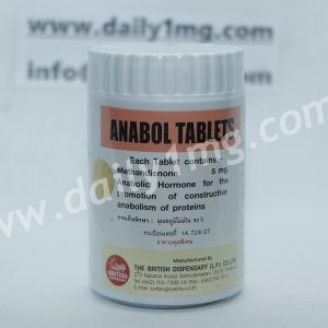 Methandienone Anabol 5mg by The British Dispensary 1000 Tablets